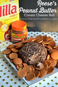 Reese's Peanut Butter Cream Cheese Ball from The Cards We Drew #AnySnackPerfect #CollectiveBias