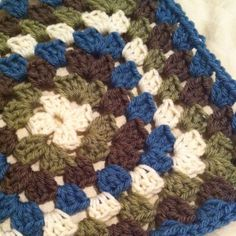 I'm loving the colors in this granny square.  I can't wait to have this blanket finished.