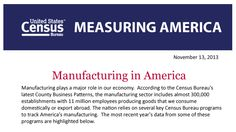 American #Manufacturing #Infographic by the US Census Bureau