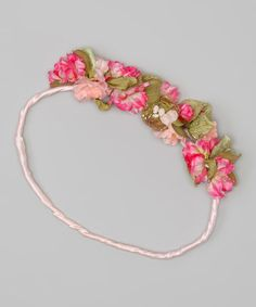 Pink Bird's Nest Headband by Enchanted Fairyware Couture on #zulily today! (2/23/13)  Reg. $40. Now $24.99    Kissed with sparkles, blossoming with fairy flowers and boasting a tiny bird's nest nestled in the blooms, this enchanting headband offers a whimsical wardrobe addition to any mini fairy princess.  Approx. 23'' circumference  Tulle / polyester
