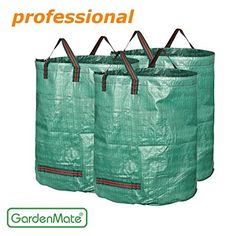 GardenMate 272 Liters Tear Resistant Water Repellent Waste Bags - 3 Piece Set for sale online