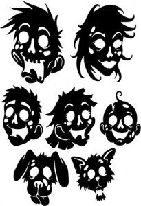 Zombie Family SVG Files