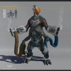 Personal character concept project of one more alien race. I wanted to pay special attention to its anatomy and make sure that it was functional.