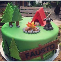Camping Cakes, Fondant Tutorial, Gum Paste, Birthday Cakes, Desserts, Food, Tailgate Desserts, Deserts, Essen
