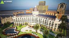 Mẫu thiết kế khách sạn cổ điển 6 tầng - Thanh Vân Hotel II tại Hải Tiến.Là một trong 2 mẫu kiến trúc khách sạn cổ điển được mong đợi nhất tại Thanh Hóa.
