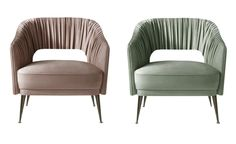 Stola Armchair  Contemporary, MidCentury  Modern, Transitional, Metal, Upholstery  Fabric, Lounge Chair by Carlyle Collective