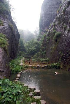 Nine Dragon Vale, Wuyishan, China