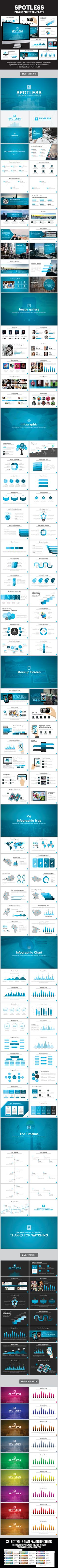 Spotless PowerPoint Presentation Template #design #slides Download: http://graphicriver.net/item/spotless-presentation-template/13215178?ref=ksioks
