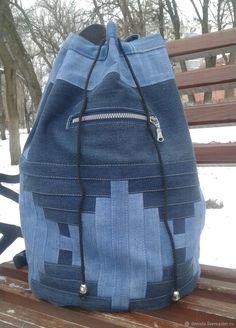 Рюкзак джинсовый INfinityIV – купить или заказать в интернет-магазине на Ярмарке Мастеров | Рюкзак в технике пэчворк из темно-синей и…