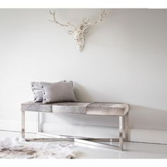 Buy the beautifully designed Antiqued Stag Head, by The French Bedroom Company. Bedroom Stools, Bedroom Cushions, Bedroom Seating, Bedroom Decor, Bedroom Ideas, Living Etc Magazine, Luxury Cushions, Velvet Cushions, Interiors Magazine
