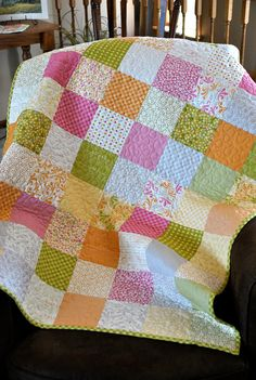 Baby Girl or Toddler Quilt Sunkissed Fabrics by cachecreekquilts, $135.00