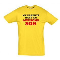 My parents have an awesome son  T shirt   #giftideas #birthdaygifts #humorshirts #humortees