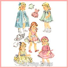Vtg 1950s Pattern Baby Doll Clothes 16 Terri Lee Saucy Walker