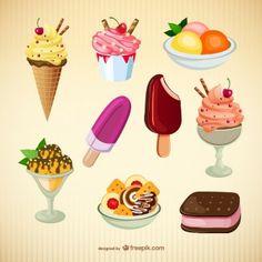 Vectores de helados