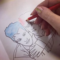 Just giving Morrissey & Johnny Marr a new cheery colourful look. Check out all our colouring books on http://ift.tt/1ihQVKN  #colouringbook #colouring #colourin #sketch #art #doodle  #morrissey #indie #thesmiths #johnnymarr #johnnyfuckinmarr #adultcolouringbook #stockingfiller #stockingstuffers #stockingfillers