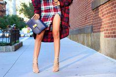 @shallwesasa from Shall We Sasa in the Plaid Rush Skirt #pencilskirt #slit || Get the skirt: http://www.nastygal.com/product/plaid-rush-skirt?utm_source=pinterest&utm_medium=smm&utm_term=ngdib&utm_content=nasty_gals_do_it_better&utm_campaign=pinterest_nastygal
