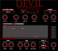 Devil Bass Module 2.5 free VST instrument plugin for Windows for creating deep to high smooth and vibrant basses. http://www.vstplanet.com/News/2016/devil-soundz-releases-devil-bass-module-v2.5-free-vst-synth.htm