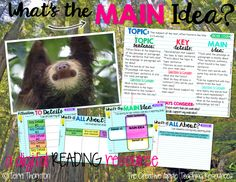 Interactive Gone Digital!  ★An interactive Google Slides Product that students will complete online. The file can then be printed/submitted electronically for an individualized assessment. What's Included? ★Includes: Main Idea Anchor Chart ★Informational Text About Sloths ★3 Interactive Graphic Organizers/Foldable-Like ★A Constructed Response Activity