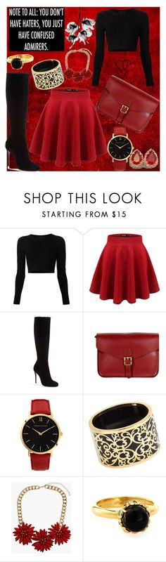 """""""Be bold"""" by frizzynorse ❤ liked on Polyvore featuring Cushnie Et Ochs, Christian Louboutin, Larsson & Jennings, Miriam Salat, Topshop, Novarese & Sannazzaro and RUD"""