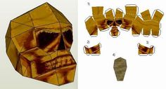 Tomb Raider IV - The Golden Skul Paper Model - by Saschacraft - == -  This is the Golden Skull reward from Tomb Raider IV: The Last Revelation.