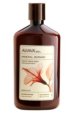 AHAVA 'Hibiscus & Fig' Mineral Botanic Velvet Cream Wash for Very Dry Skin available at #Nordstrom