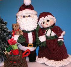 PDF Crochet Pattern HERR und Frau SANTA von bvoe668 auf Etsy