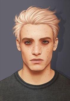 LOVING HIM SEEMS TIRING Boy Character, Character Portraits, Character Drawing, Character Design, Boy Drawing, Sr1, Cute White Boys, Blonde Boys, Digital Portrait