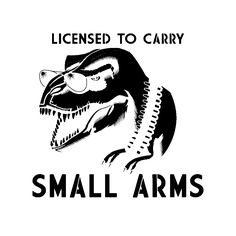 """[O] """"Licensed to carry small arms"""" - T-rex, shades, ammo belt - Imgur"""