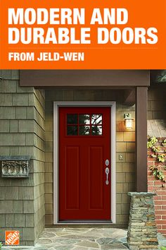 Made of galvanized steel, these durable entry doors resist rust and corrosion while adding curb appeal to your home. With clean and simple modern lines, they're sure to complement your home no matter the style or design. Click to shop these easy to install and easy to maintain doors from JELD-WEN.