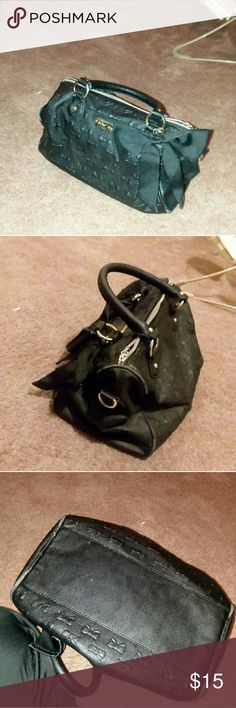 Betsey Johnson Bag Used.  Needs a Dry Cleaners Attention . Few Cracks & Peels    Not bad , very wearable . It's just used .  Selling so cheap because of the Damage , but this bag is still worth the buy I Promise. Betsey Johnson Bags Crossbody Bags