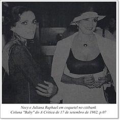 """Necy e Juliana Raphael. Coluna """"Baby"""" do A Crítica de 17 de setembro de 1982."""