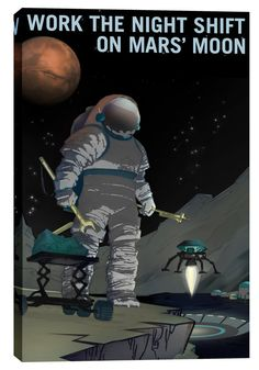 Planets College ART PRINT POSTER #2 A3//A4 SIZE Oasis