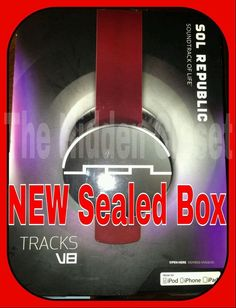 CHEAP WILL GO FAST ,Sol Republic Detachable Headphones GENUINE Tracks V8 RED DJ Music Beats #SOLRepublic ON SALE NOW $49.99 only 2 left!!!!
