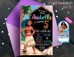 Moana Invitation Moana birthday invitation Moana party