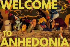 Season 2 Poster #welcometoanhedonia #poster #ad #premier #webseries #indiefilm #indiewebseries #puppets #puppet #party…