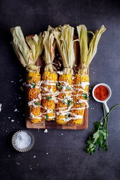 Grilled Mexican street corn. Click for recipe. simply-delicious-food.com