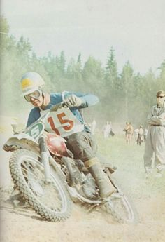 This is an almost exactly 50 year old picture from Sweden's 250 GP in Motala, July 24 1966. Torsten Hallman