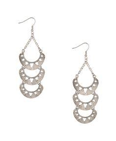 Cutout Crescent Earrings f21