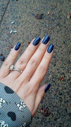 Dark Blue Nails, dark blue nail polish.