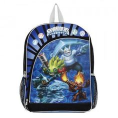 Go back to school with the coolest Skylanders on your back when you wear the Skylanders Trap Team 16-inch Backpack.