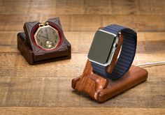 Inspired by our Grandfather's pocket watch stand the Luxury Pocket Stand for Apple Watch easily cradles your Apple Watch and gives a sense of times gone by. The perfect marriage of old and new. Find this and more from Pad and Quill. #Applewatch #charging