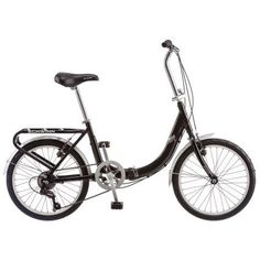 20 inch Schwinn Loop Folding Bike, Black