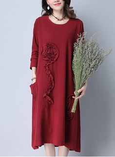 Latest fashion trends in women's Dresses. Shop online for fashionable ladies' Dresses at Floryday - your favourite high street store. Cotton Linen, Latest Fashion Trends, Casual Dresses, Cold Shoulder Dress, Elegant, Lady, Long Sleeve, Sweaters, Shopping