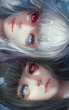 Sisters Kuro and Shiro / Tokyo Ghoul Anime Art ghoul Kuro Shiro Sisters tokyo Art Manga, Chica Anime Manga, Anime Kawaii, Yandere Manga, Manga Books, Art Anime Fille, Anime Art Girl, Anime Girls, Dark Anime Girl