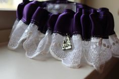 Happily Ever After and Castle Garter by LAMBridalAccents on Etsy