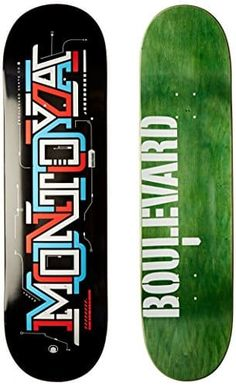 Blvd Skateboards Transit Montoya Deck, 8.5-Inch: Pro quality 7 ply Canadian maple skateboard deck Great deck for skaters just starting out…