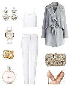 """Totale look blanc moderniser "" by azihari-soifia on Polyvore"