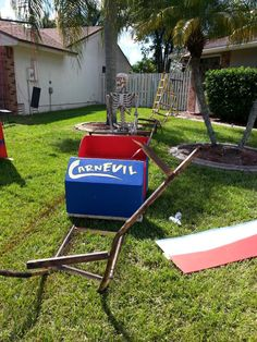 Roller Coaster prop for Carnival Theme... love it!