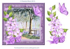Summer Woods and butterflies decoupage on Craftsuprint - Add To Basket!