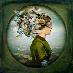 Maggie Taylor a contemporary photo montage artist. Wife of Jerry Uelsmann.